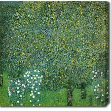 gustav klimt bushes trees on canvas free