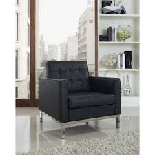 Leather Arm Chairs Florence Knoll Style Armchair In Leather Multiple Colors