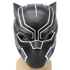black halloween mask black panther mask captain america 3 civil war cosplay soft resin