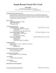 Profile Sample Resume by Cv Examples New Graduate