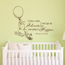 Wall Decal Quotes For Nursery by 20 Inspirations Winnie The Pooh Nursery Quotes Wall Art Wall Art