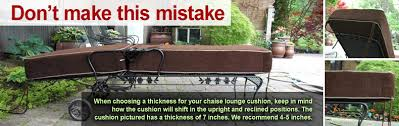 how to measure a chaise lounge for a cushion