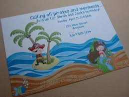 pirate mermaid party invitations pirate party pinterest