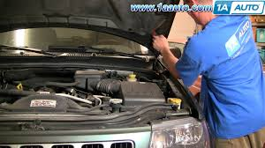 how to install repair replace sagging falling engine hood jeep