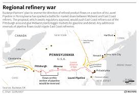 Map East Coast Pennsylvania Pipeline Fight Could Upend International Oil Flows
