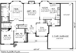 3 bedroom floor plans with garage stylish ideas 3 bedroom ranch house plans plan floor 85851 home