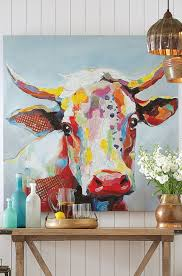 kitchen artwork modern bessie 36 cow portraits and paintings