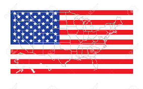 Map Usa States by Usa States Map Outline Over Accurate Flag Vector Illustration