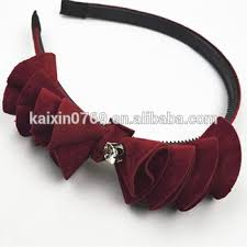 crochet hair bands beautiful jeweled artificial flower crochet plastic hair bands for