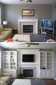 Decorating Bookshelves Ideas by Best 25 Shelves Around Fireplace Ideas On Pinterest Craftsman