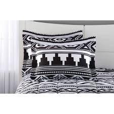 Mainstays Bedding Sets Mainstays Tribal Black And White Bed In A Bag Bedding Set