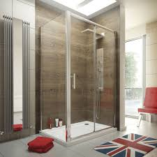 1200 x 800 sliding door shower enclosure glass cubicle with stone