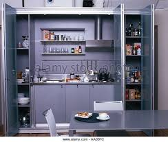 kitchen in a cupboard small kitchen in cupboard sliding stock photos small kitchen in