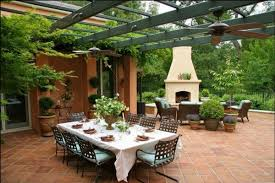 Outdoor Patio Design Furniture Pergola Patio Design With Rectangle Dining Table Feat
