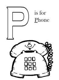 imagenes en ingles con la letra p colorea tus dibujos letra p en ingles para colorear teléfono para