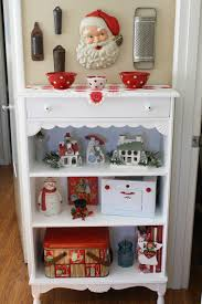 Christmas Decorating Ideas For The Kitchen Sunny Simple Life Vintage Christmas Kitchen Shelf