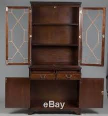 Bookshelves Glass Doors by Style Vintage Mahogany Glass Door Bookcase Display Cabinet Bookshelf