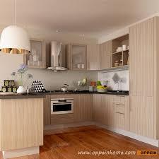 Modern Wooden Kitchen Cabinets Oppein Kitchen In Africa Op15 M11 Modern Wood Grain Matte