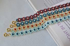 make bead flower bracelet images Beaded flower bracelets fun family crafts jpg