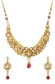gold colour chain necklace images Dilan jewels pure collection pink colour golden imitation kundan jpg