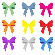 colorful ribbon ribbons bows clipart