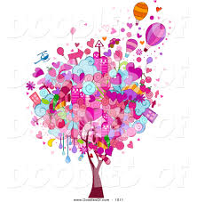vector clipart of a valentine doodle tree by bnp design studio 1011