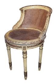 furniture rustic vanity chair with curved carving wood back