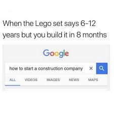 Lego Meme - dopl3r com memes when the lego set says 6 12 years but you build