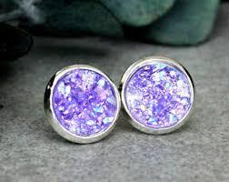 purple earrings purple earrings etsy