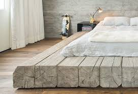 Reclaimed Wood Platform Bed Design Detail A Platform Bed Made Using Reclaimed Logs
