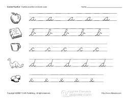 printable english cursive handwriting practice copybook appnee
