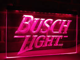 busch light neon sign le088 busch lite beer vintage club bar led neon light sign home