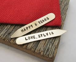 eighth anniversary gift 8th anniversary collar stay eighth anniversary gift for