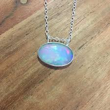opal necklace silver images Rose cut ethiopian opal necklace sterling silver bay on third jpg