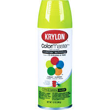 krylon 12 oz gloss citrus green colormaster spray paint k05357001