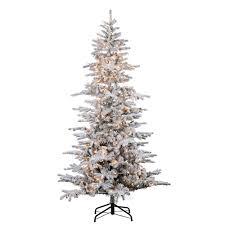 sterling 9 ft pre lit flocked cambridge fir tree 5865