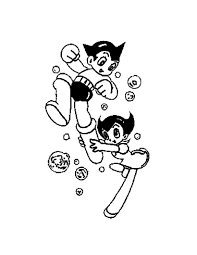 astro boy rocket feet coloring pages hellokids com