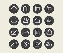 Home Design Vector Free Download Real Estate Vector Icons Free Download Free Download