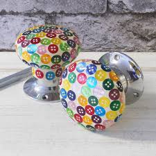 purple glass door knobs colourful button internal turning mortice door knobs by pushka