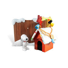 Snoopy Christmas Decorations by Shop Peanuts Lighted Muscial Plastic Snoopy Dog House Freestanding