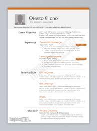 Best Simple Resume Format Free Resume Templates Simple Professional Template Regarding 87
