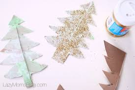 recycled cardboard christmas tree easy winter craft lazy mom u0027s blog