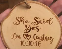 she said yes ornament engagement ornament personalized
