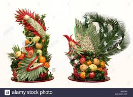 traditional fruit tray for wedding in vietnam stock photo royalty