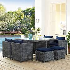 Outside Patio Dining Sets - belham living meridian 5 piece all weather wicker sofa sectional