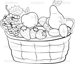 fruit basket colouring pages free coloring pages on art coloring
