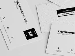 minimal psd business card template