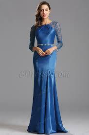 long sleeves royal blue formal dress evening dress x00153105