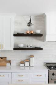 Subway Tile Backsplash In Kitchen Kitchen Gray And White Marble Kitchen Reveal Subway Tiles