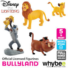 lion king cake toppers official bullyland disney the lion king figurines 5 cake topper